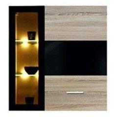 BRW SOMATIC SFW1W1D/11/10 P (дуб сонома/черный блеск, правый)