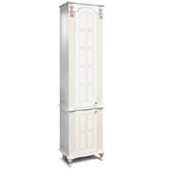 Мебель для ванной комнаты Калинковичский мебельный комбинат Шкаф-пенал Версаль КМК 0454.6-01 (белый с золотой патиной)