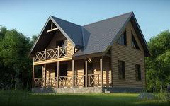 WoodHata Проект дачного дома Pr-D-14