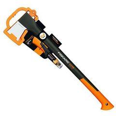 Столярный и слесарный инструмент Fiskars Топор-колун X21 L и нож универсальный (1025436)