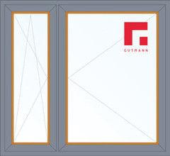 Дерево-алюминиевое окно Gutmann Лиственница 1460*1400, в/с, П/О+П