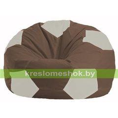 Бескаркасное кресло Бескаркасное кресло Kreslomeshok.by Мяч М 1.1-316 коричневый - белый