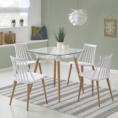Обеденный стол Обеденный стол Halmar Tonic (белый/ бук)