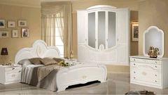 Спальня Слонимдревмебель Щара 5-д (белая, золото)