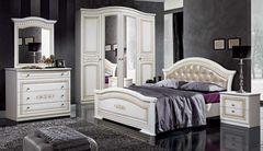 Спальня Слонимдревмебель Верона 4-д (белая, золото)