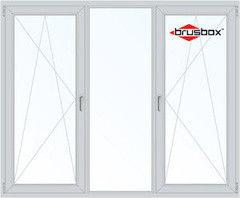 Окно ПВХ Окно ПВХ Brusbox 2080*1430 2К-СП, 6К-П, П/О+Г+П/O