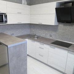 Кухня Кухня AA-Glass Пример 7 (ЛДСП Egger)