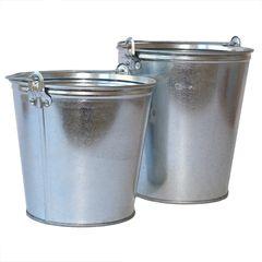 Посадочный инструмент, садовый инвентарь, инструменты для обработки почвы Четырнадцать Ведро оцинкованное (0.55) 7 литров