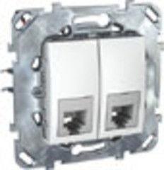 Schneider Electric телефонная Unica двойная RJ11, белый MGU5.9090.18ZD