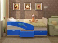 Детская кровать Детская кровать Регион 058 Дельфин 3D с фотопечатью
