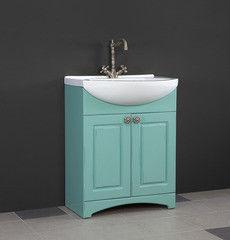 Зеленая мебель для ванной Норта Тумба Прованс 75 двери