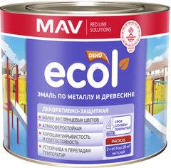 Эмаль Эмаль Ecol (MAV) ПФ-115 по металлу и древесине бирюзовая (0.9 кг)