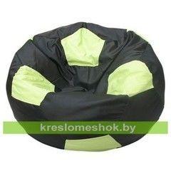 Бескаркасное кресло Бескаркасное кресло Kreslomeshok.by Мяч Стандарт Бобби (чёрно-салатовый)