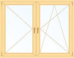 Деревянное окно Сосна 1800*1800, 1с, П/О+П
