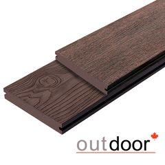 Террасная доска Outdoor Outdoor 3D 140*25*3000 мм. полнотелая STORM/OCEAN BROWN коричневая