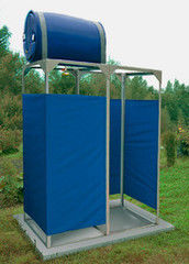 Летний душ для дачи Летний душ для дачи Петромаш Садовый с раздевалкой 220л