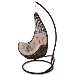 Кресло из ротанга Садовый дворик Леди коричневый