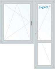 Окно ПВХ Exprof 1440*2160 1К-СП, 4К-П, П/О+П