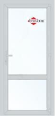 Алюминиевая дверь Brusbox 900*2000 1К-СП, 4К-П одностворчатая с импостом