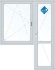 Окно ПВХ Veka 2160*1440 2К-СП, 3К-П, П/О+П