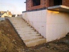 Лестница из бетона Монолит Пример 65