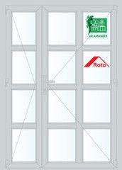 Дверь ПВХ Дверь ПВХ Salamander 2D 1350*2100 двустворчатая Модель 23