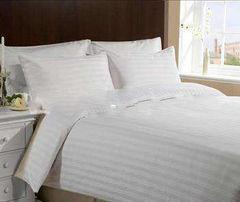 Постельное белье Постельное белье Inna Morata Белый полоса 3см KL-3-25 (Евро 1 Стандарт)