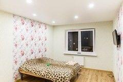 Натяжной потолок ТЕХО сатиновый в спальне