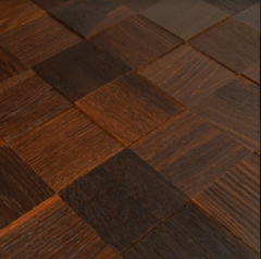 Декоративная стеновая панель Декоративная стеновая панель Mosaic Box Block Brushed Brown