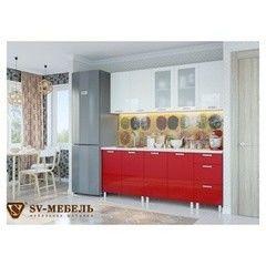 Кухня Кухня SV-Мебель Модерн Белый/Гранат