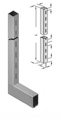 Торговая мебель Торговая мебель Интерсилуэт Стойка 50х25мм L-образная «Элемент» высота 2,4м