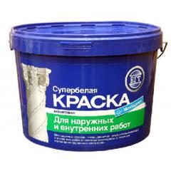 Краска Краска ВГТ ВД-АК-1180 для наружных и внутренних работ супербелая моющаяся 1,5 кг