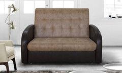 Диван Двухместный диван DM-мебель Эврика (2М, черный/коричневый)