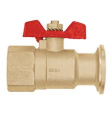 """Комплектующие для систем водоснабжения и отопления Meibes Запорный шаровый кран DN25 (G1"""" ВР x плоский фланец) под гайку 1 1/2"""" (61810)"""