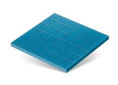 "Резиновая плитка Rubtex Плитка ""Брусчатка"" 500x500 (голубая)"