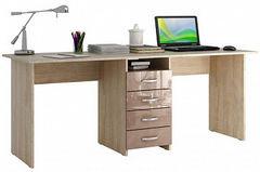 Письменный стол Мебельная Фабрика Мастер Тандем-2 Глянец (дуб сонома/капучино)