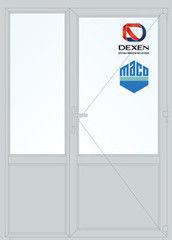 Дверь ПВХ Дверь ПВХ Dexen 1500*2100 двустворчатая Модель 62