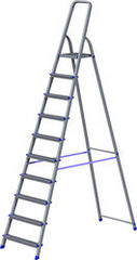 Лестница Новая высота Лестница-стремянка Новая высота NV 111 алюминиевая 10 ступеней (1110110)