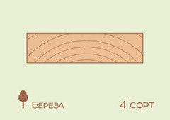 Доска обрезная Доска обрезная Береза 30*100 мм, 4 сорт
