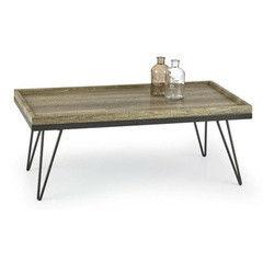 Журнальный столик Halmar Silvia (дикий дуб/ черный)