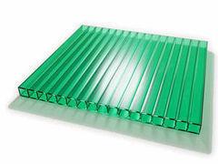 Светопрозрачная кровля Юг-Ойл-Пласт Зелёный 2100х6000х6 мм