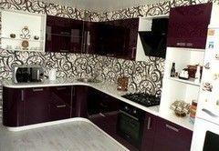 Кухня Кухня на заказ ЗОВ Модерн-6 Ежевика