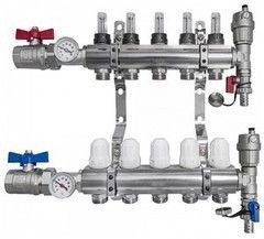Комплектующие для систем водоснабжения и отопления Profline Коллектор XF 20135-8