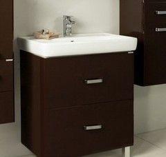 Мебель для ванной комнаты Акватон Тумба-умывальник Америна 70 Н тёмно-коричневая (1A169301AM430)