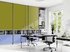 Шкаф офисный Raumplus Зелено-голубой в кабинет