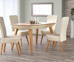 Обеденный стол Обеденный стол Halmar Orchid (медовый дуб/бежевый)
