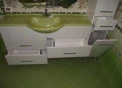 Зеленая мебель для ванной Eight rooms Пример 72