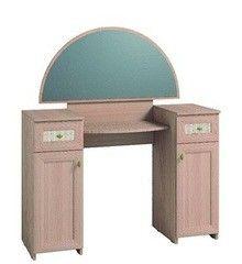 Туалетный столик Глазовская мебельная фабрика Милана 2 с зеркалом (дуб отбеленный)