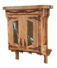 Мебель для ванной комнаты Orvietto Шкаф навесной со стеклом BA005