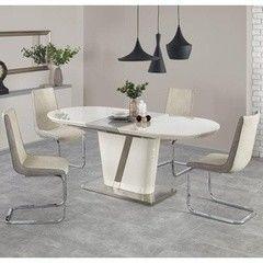 Обеденный стол Обеденный стол Halmar Iberis раскладной (кремовый)